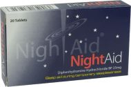 Nightaid tablets 25mg 20 pack