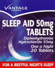 Vantage sleep aid tablets 25mg 20 pack